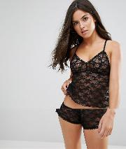 Lace Cami And Short Set