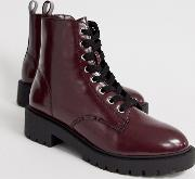 Lace Up Flat Boots
