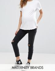 over the bump skinny jegging
