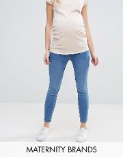 under the bump skinny jegging