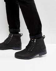 Military Boot In Black
