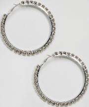 Oversized Hoops With Stones