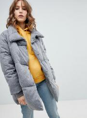 padded quilted coat