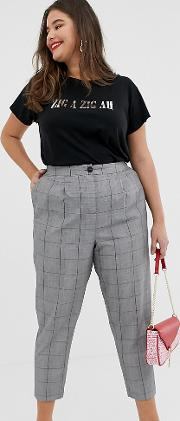 New Look Curve Check Trousers