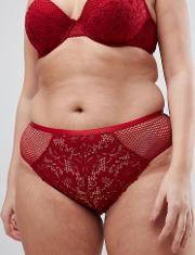 new look curve cotton lace brief