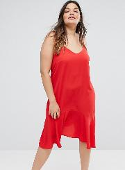 New Look Curve Peplum Slip Dress