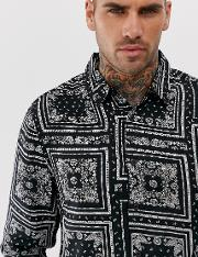Regular Fit Shirt With Paisley Print