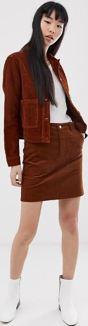 Skirt With Button Front