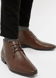 smart chukka boot in dark brown