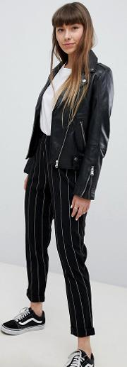 stripe pull on trousers