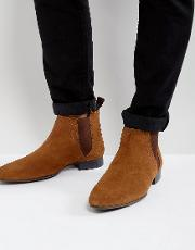 Suede Chelsea Boot In Tan