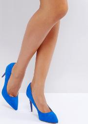 Suedette Court Shoe