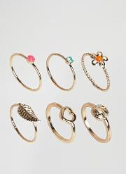summer neon stack rings