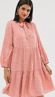 Pussey Bow Smock Dress