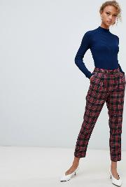 Tartan Check Pull On Trousers