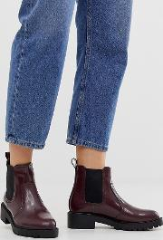 Chunky Flat Chelsea Boots
