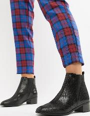 wide fit flat chelsea boot