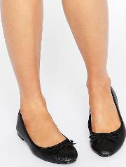 leather look ballet pump