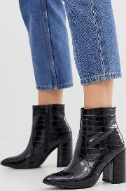 Pointed Heeled Boot Croc