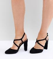 wide fit round toe strappy court