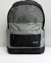 backpack in black with mesh panels
