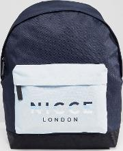 backpack with rubber logo