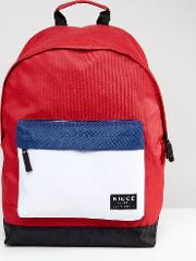nicce colour block backpack in red