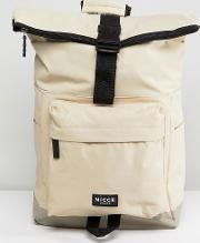 rolltop backpack in stone