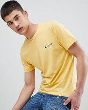 tall  shirt in yellow with split logo exclusive to asos