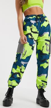 Relaxed Cargo Pants With Reflective Pockets