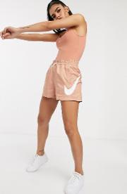 High Waisted Rose Woven Shorts