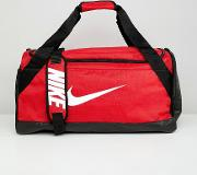 red swoosh logo duffle bag