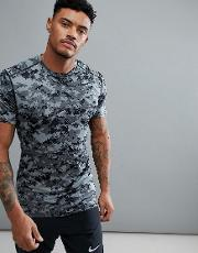 compression t shirt in grey camo 924853 065