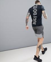 project x 'just do it'  shirt in black ah0531 060