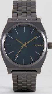 glades time teller bracelet watch in gunmetal