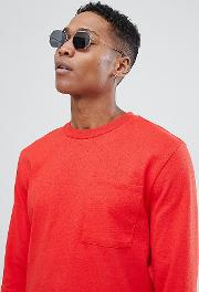 t shirt in relaxed fit with long sleeves