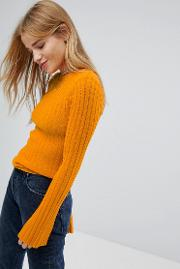 Nobody's Child Jumper In Skinny Rib