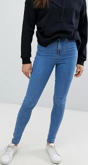 ankle length high waist skinny jeans
