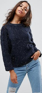 Speckle Cable Knit Jumper