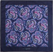 paisley pocket square in cotton