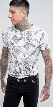 regular t shirt in floral print