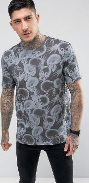 regular t shirt in skull print