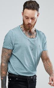 Relaxed Skater Scoop Neck Dirty Wash  Shirt