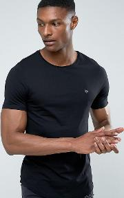 Tall Muscle Fit Crew Neck  Shirt With Logo