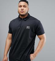 sport polo with cool effect in black