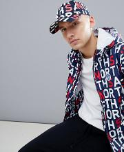 all over logo print baseball cap