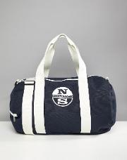 large duffle bag with logo in navy