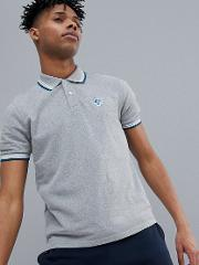 Slim Fit Polo Shirt With Tipping & Logo Collar