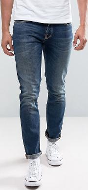 Co Grim Tim  Slim Fit Revelation Blue Mid Wash