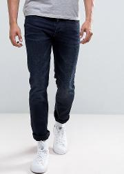 co tilted tor jean skinny fit indigo river dark wash